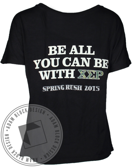 Chi Sigma Rho All You Can Be Tee-Adam Block Design