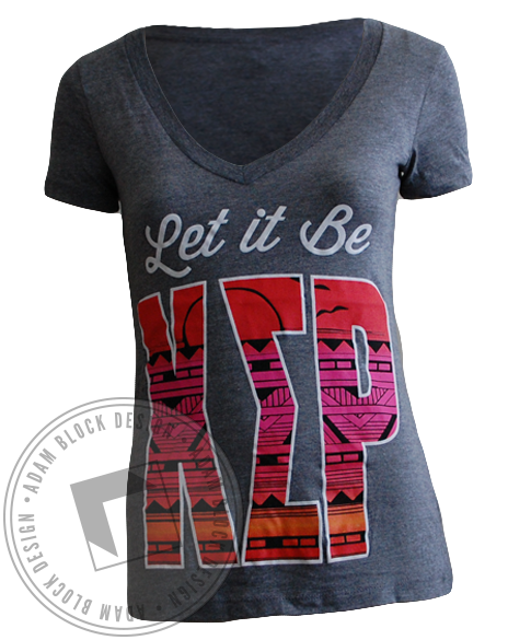 Chi Sigma Rho Let It Be Tee-Adam Block Design