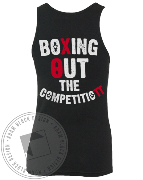 Chi Theta Pi Boxing Out the Competition Tank Top-Adam Block Design