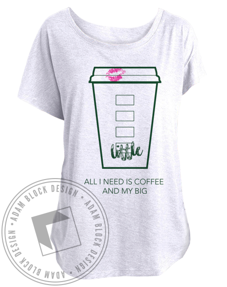Coffee And My Big Tee-Adam Block Design