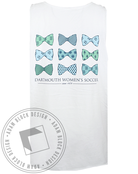 Dartmouth Women's Soccer Tank Top-Adam Block Design