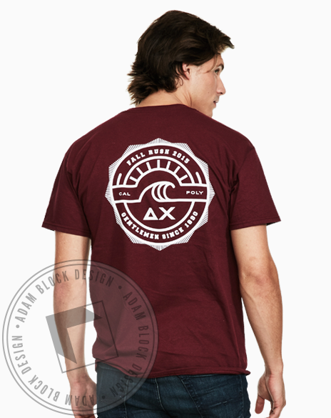 Delta Chi Fall Rush Tshirt-Adam Block Design