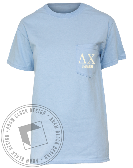 Delta Chi Surf Pocket Tee-Adam Block Design