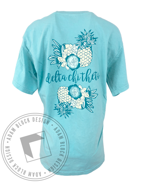Delta Chi Theta Pineapple Tee-gallery-Adam Block Design