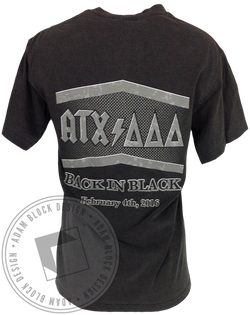 Delta Delta Delta Back in Black Tee-Adam Block Design