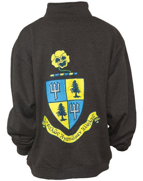 Delta Delta Delta Beta Pi Crest Half-zip-gallery-Adam Block Design