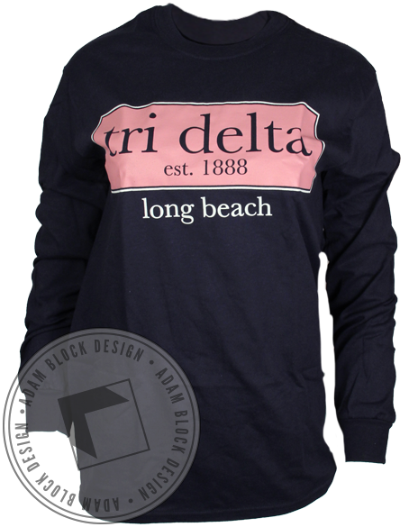 Delta Delta Delta Bid Day Long Sleeve-Adam Block Design