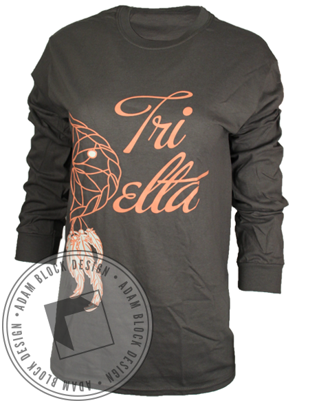 Delta Delta Delta Dream Catcher Long Sleeve-Adam Block Design