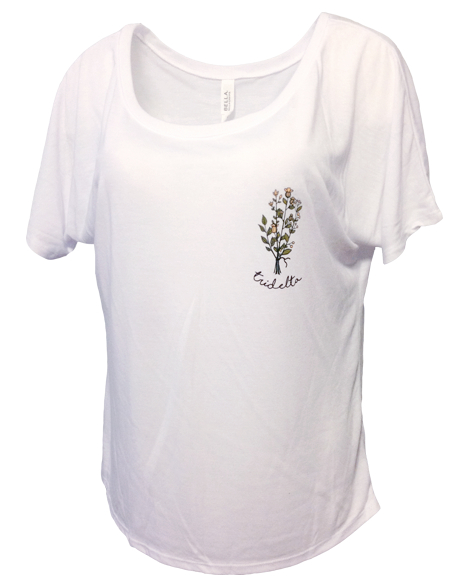 Delta Delta Delta Flower Bouquet Flowy Tee-gallery-Adam Block Design