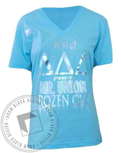 Delta Delta Delta Frozen V-Neck-gallery-Adam Block Design