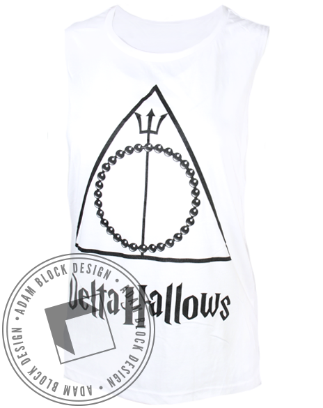 Delta Delta Delta Hallows Tank-Adam Block Design