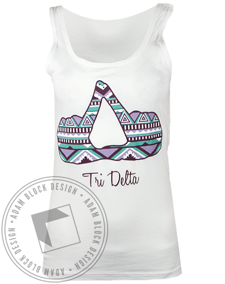 Delta Delta Delta Hand Sign Tank Top-gallery-Adam Block Design
