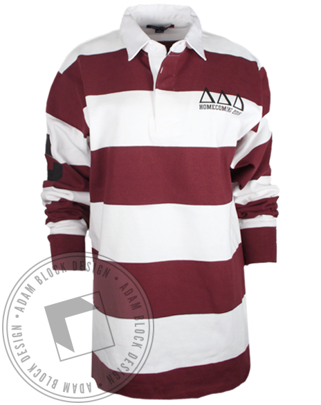Delta Delta Delta Homecoming Rugby Shirt-Adam Block Design