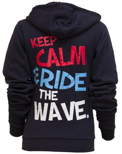 Delta Delta Delta Keep Calm Wave Hoody-Adam Block Design