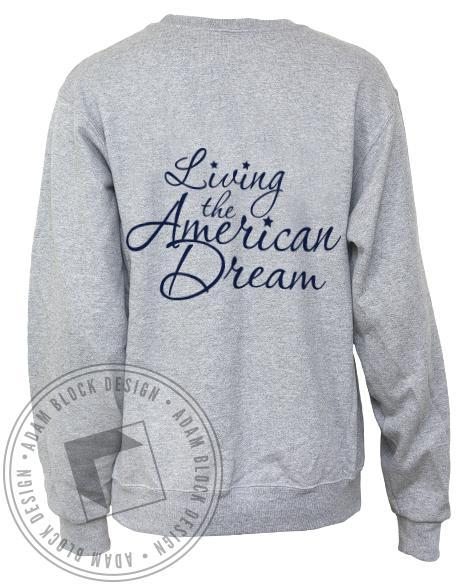 Delta Delta Delta Living The American Dream Crew Neck Sweatshirt-Adam Block Design