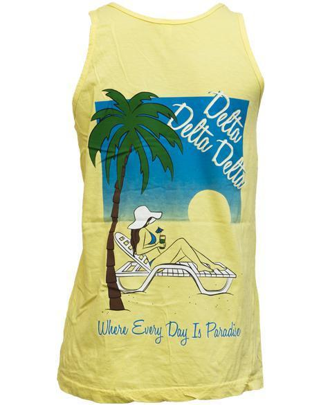 Delta Delta Delta Paradise Yellow Tank-gallery-Adam Block Design