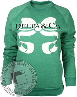 Delta Delta Delta Pearls Long Sleeve-Adam Block Design