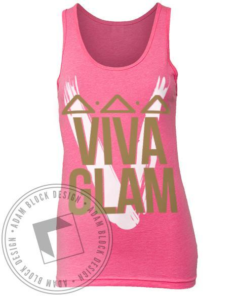 Delta Delta Delta Pink Formal Tank-Adam Block Design