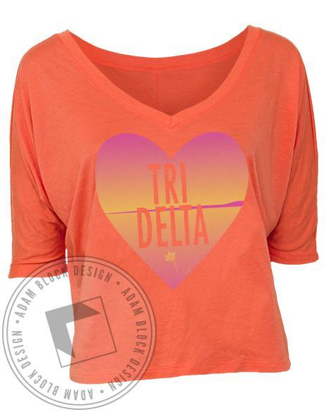 Delta Delta Delta Ready for Formal Season V-Neck-Adam Block Design