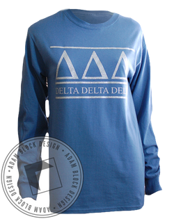Delta Delta Delta Simple Longsleeve-Adam Block Design