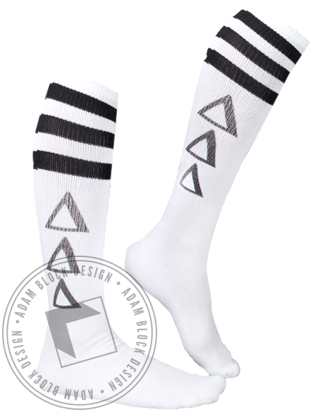 Delta Delta Delta Striped Socks-Adam Block Design
