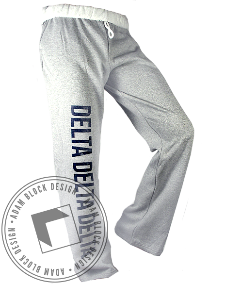 Delta Delta Delta Sweatpants-Adam Block Design