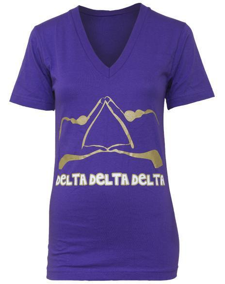 Delta Delta Delta Throw What You Know V-neck-gallery-Adam Block Design