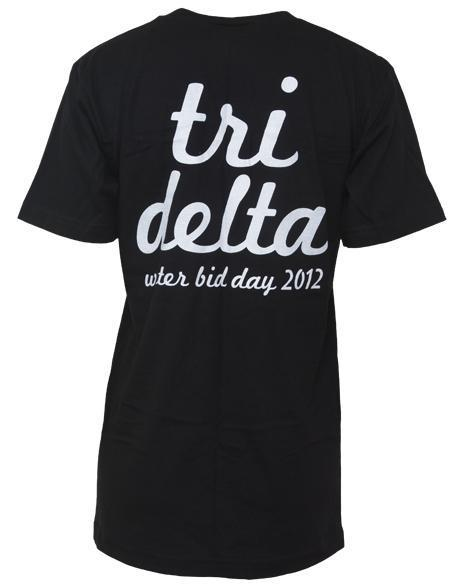 Delta Delta Delta Tri Your Luck V-neck-gallery-Adam Block Design