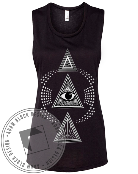 Delta Delta Delta Triangle Muscle Tank-Adam Block Design