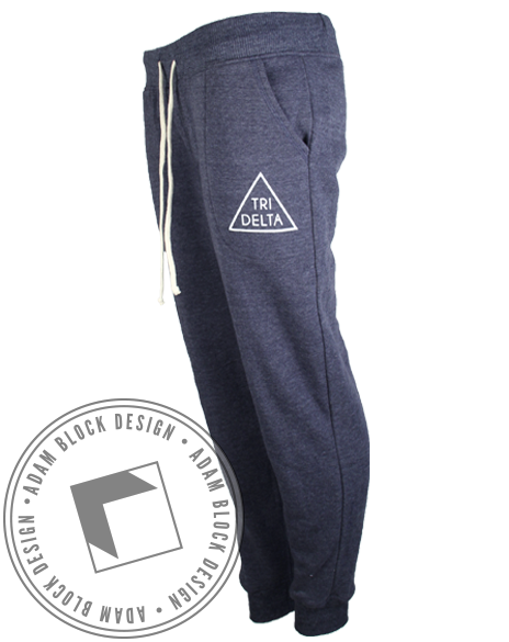 Delta Delta Delta Triangle Sweatpants-Adam Block Design