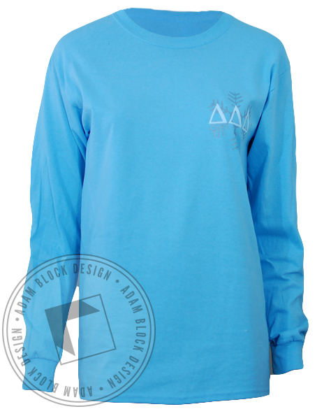 Delta Delta Delta Winter Formal Long Sleeve-Adam Block Design
