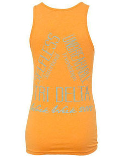 Delta Delta Delta Work Week Tank-Adam Block Design