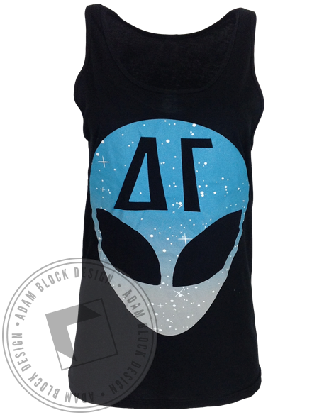 Delta Gamma Alien Tank-Adam Block Design