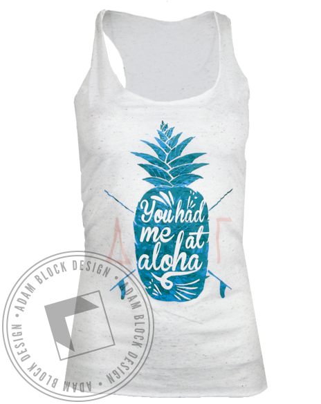 Delta Gamma Aloha Tank Top-gallery-Adam Block Design