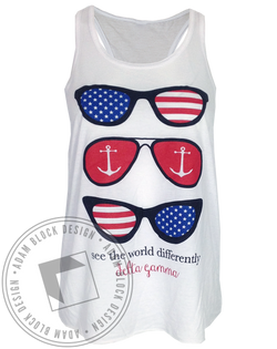 Delta Gamma American See The World Tank-Adam Block Design
