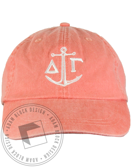 Delta Gamma Anchor Baseball Hat-gallery-Adam Block Design