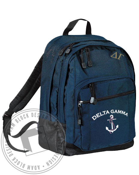 Delta Gamma Anchor DG Backpack-gallery-Adam Block Design