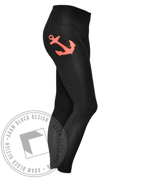 Delta Gamma Anchor Leggings-Adam Block Design