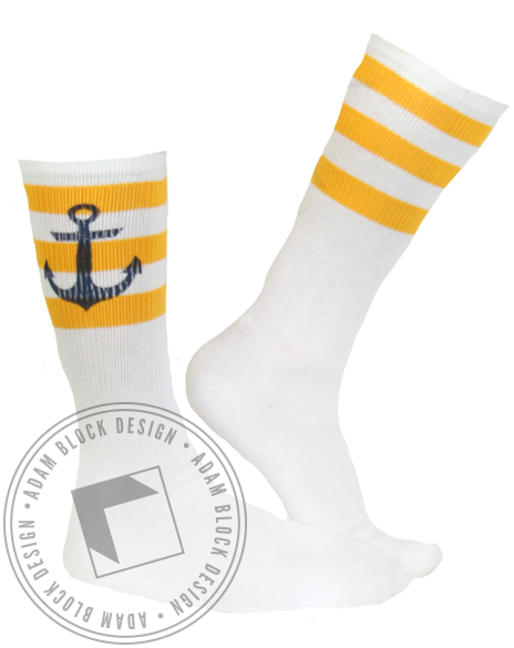 Delta Gamma Anchor Socks-gallery-Adam Block Design