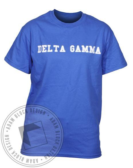 Delta Gamma Anchor Splash Blue Tee-Adam Block Design