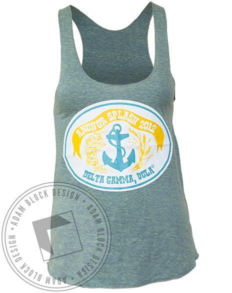Delta Gamma Anchor Splash DG Tank-Adam Block Design