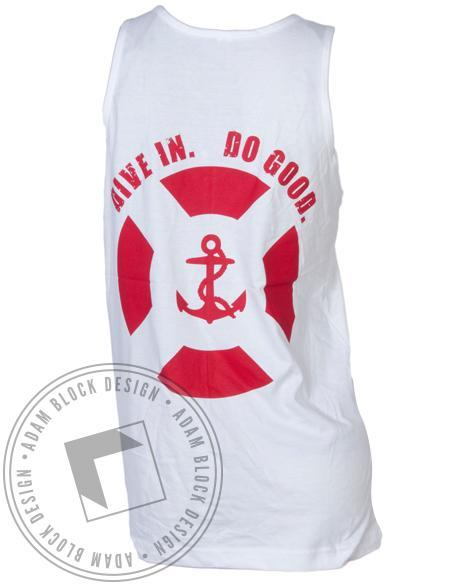 Delta Gamma Anchor Splash Lifeguard Tank-Adam Block Design