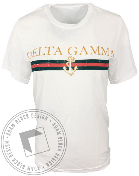 Delta Gamma Anchor & Stripes Tshirt-gallery-Adam Block Design