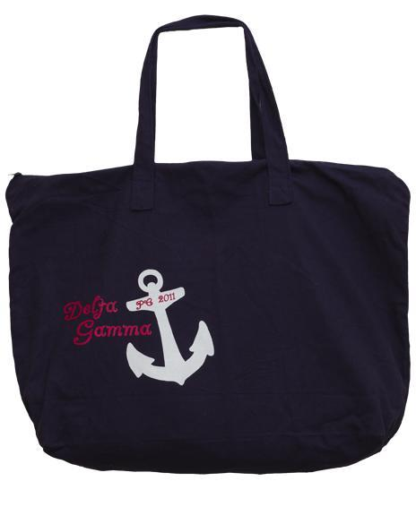 Delta Gamma Anchor Tote Bag-gallery-Adam Block Design
