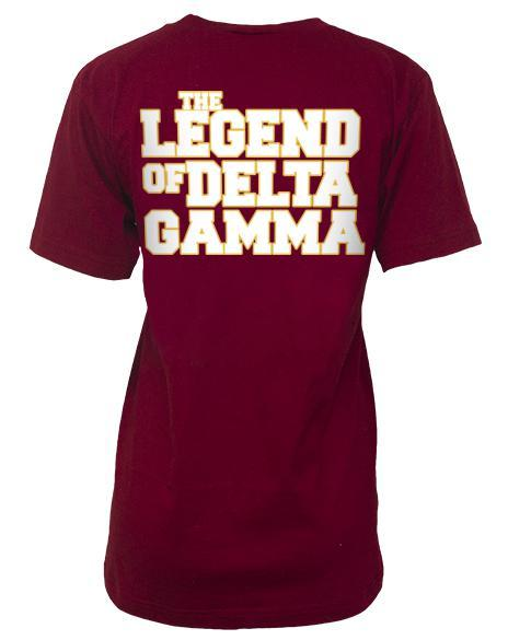 Delta Gamma Anchorwoman V-neck-Adam Block Design