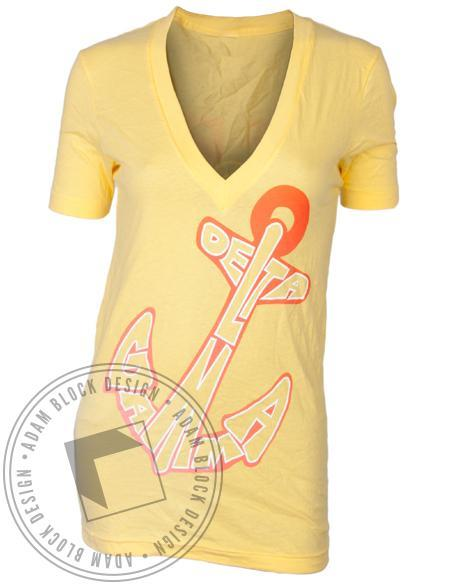 Delta Gamma Bid Day Anchor V-Neck-gallery-Adam Block Design