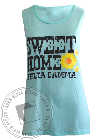 Delta Gamma Bid Day Sweet Home California Tank-Adam Block Design