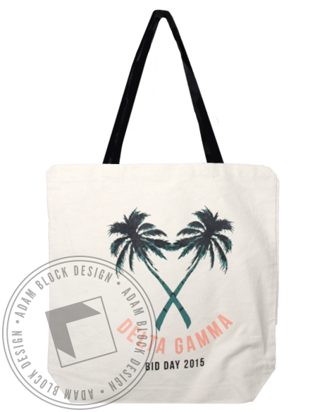 Delta Gamma Bid Day Tote Bag-gallery-Adam Block Design