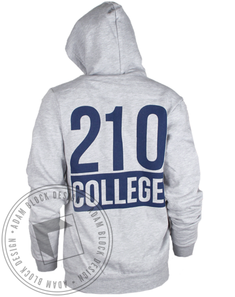 Delta Gamma College Hoodie Sweatshirt-Adam Block Design