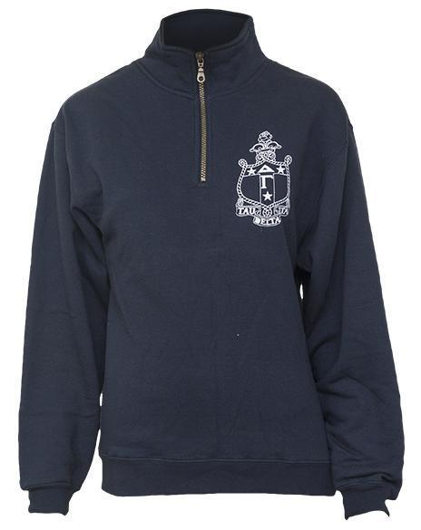 Delta Gamma Crest Anchor Half-Zip-gallery-Adam Block Design